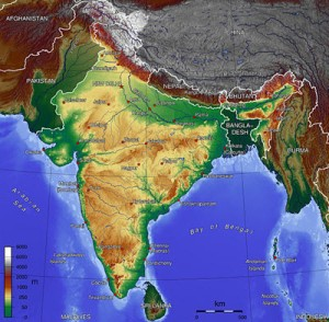 india-topographic-map